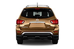 Straight rear view of 2018 Nissan Pathfinder S 5 Door SUV Rear View  stock images