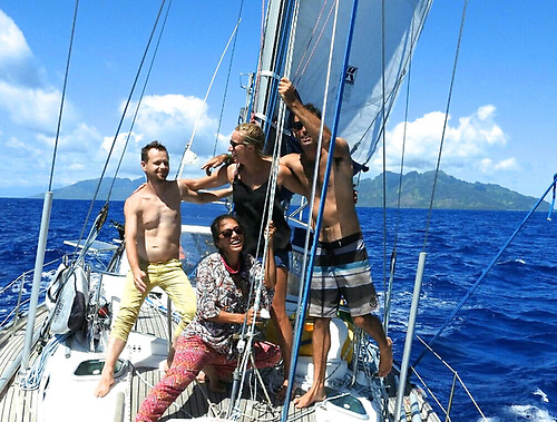island-hopping aboard Cajucito in pre-pandemic days