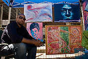 September 4, 2010. Raleigh, North Carolina..Shawn Elderidge was one of the many artist in attendance at the African-American Cultural Festival.