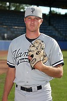 Staten Island Yankees Justin Keadle poses for a photo before a NY-Penn League game at Russell Diethrick Park on August 13, 2006 in Jamestown, New York.  (Mike Janes/Four Seam Images)