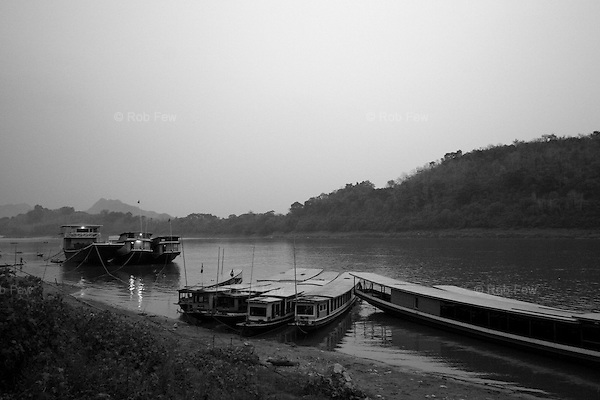 Luang Prabang dock, where you arrive if you come upriver from Huay Xai... assuming you arrive at all.