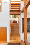 Wood beams, stairs, and railing in a contemporary island home. This image is available through an alternate architectural stock image agency, Collinstock located here: http://www.collinstock.com
