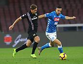 2nd February 2019, Stadio San Paolo, Naples, Italy; Serie A football, Napoli versus Sampdoria; Gaston Ramirez of Sampdoria and Nikola Maksimovic of Napoli