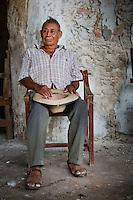 A farm hand rests at the Hacienda Blanca Flor in Santa Cruz, Campeche, Mexico