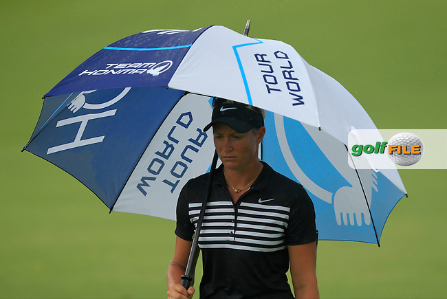 Suzann Pettersen (NOR) on the 9th fairway during Round 2 of the HSBC Women's Champions on Friday 3rd March 2017.<br /> Picture:  Thos Caffrey / Golffile