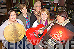 LOADS OF TALENT: Staff and customers at the Bunker Bar in Ballybunion who are gearing up for the heats of the Stars of the Bars competition, l-r: No?iri?n Hitchen, Georgina Keane (Bunker Bar), Sarah Dee, Gra?inne Kennelly, Aimee Halpin.