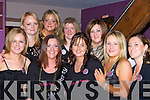 Caroline Dineen Dromtacker, Tralee celebrated her hen party with her friends in the Chapter Forty restaurant Killarney on Saturday night front row l-r: Fiona O'Connell, Caroline Dineen, Susan Brosnan, Tracy McGough, Elaine Forrest. Back row: Karen Byrne, Jacqui Dineen, Jennifer Shields and Imelda Roche        Copyright Kerry's Eye 2008