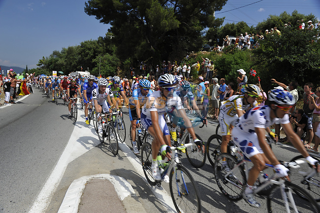 The peloton over the Col d'Ange during Stage 2 of the Tour de France 2009 running 187km from Monaco to Brignoles, France. 5th July 2009 (Photo by Eoin Clarke/NEWSFILE)
