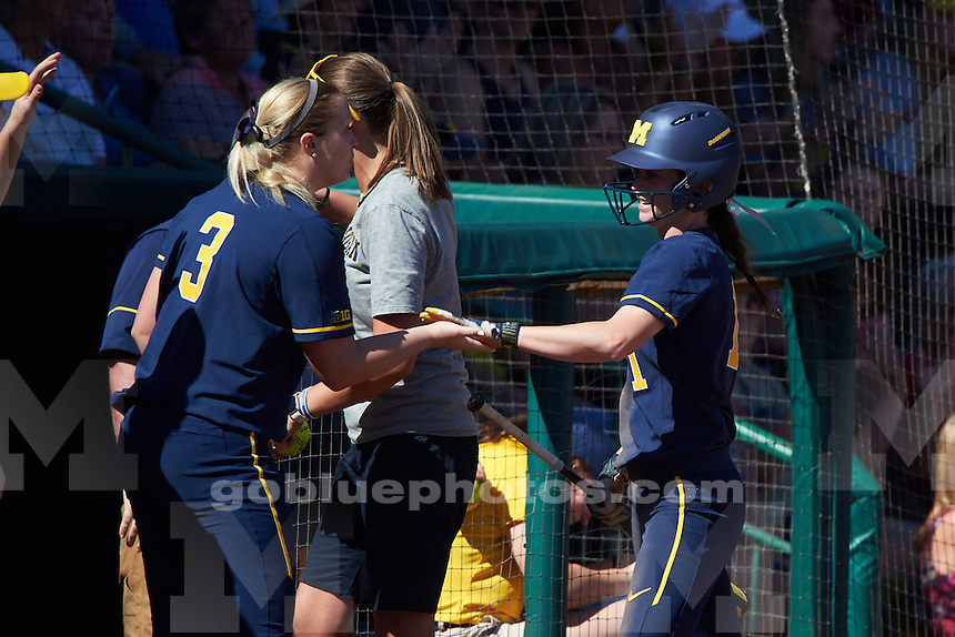 Michigan Wolverines Softball against the Florida Gators on February 11, 2017 at USF Softball Stadium in Tampa, Florida.  (Mike Janes Photography) The University of Michigan softball team loses to Florida, 2-1, during the Wilson-Demarini Tournament in Tampa, Fla., on Feb. 11, 2017.