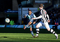 Myles Weston of Wycombe Wanderers during the Sky Bet League 2 match between Wycombe Wanderers and Notts County at Adams Park, High Wycombe, England on the 25th March 2017. Photo by Liam McAvoy.