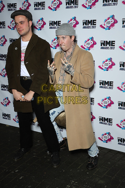 Laurie Vincent and Isaac Holman - Slaves<br /> The VO5 NME Awards 2017 at the O2 Academy, Brixton, London on February 15th 2017<br /> CAP/GOL<br /> &copy;GOL/Capital Pictures
