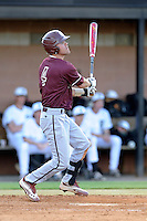 Shortstop Champ Rowland (4) of the College of Charleston Cougars bats in a game against the University of South Carolina Upstate Spartans on Tuesday, March 31, 2015, at Cleveland S. Harley Park in Spartanburg, South Carolina. Charleston won, 10-0. (Tom Priddy/Four Seam Images)