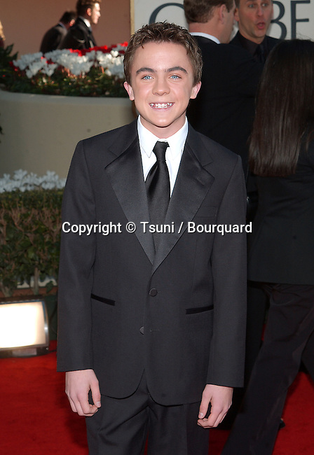 Frankie Muniz arrives at The 59th Annual Golden Globe Awards held at the Beverly Hilton Hotel in Los Angeles, Ca., Sunday, January 20, 2002.            -            MunizFrankie40.jpg