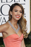 BEVERLY HILLS, CA - JANUARY 13: Jessica Alba at the 70th Annual Golden Globe Awards at the Beverly Hills Hilton Hotel in Beverly Hills, California. January 13, 2013. Credit: mpi29/MediaPunch Inc. /NortePhoto