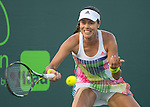 March 26 2016:  Ana Ivanovic (SRB) loses to Timea Bacsinszky (SUI) 7-5, 6-4, at the Miami Open being played at Crandon Park Tennis Center in Miami, Key Biscayne, Florida. ©Karla Kinne/Tennisclix/Cal Sports Media
