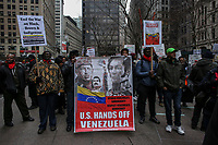 Pro-Venezuelan Government protest in New York against the US intervention in Latino America