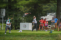 Ian Poulter (GBR) watches his tee shot on 2 during 4th round of the World Golf Championships - Bridgestone Invitational, at the Firestone Country Club, Akron, Ohio. 8/5/2018.<br /> Picture: Golffile | Ken Murray<br /> <br /> <br /> All photo usage must carry mandatory copyright credit (© Golffile | Ken Murray)