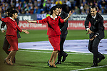 Royal Jordanian Airlines stewardess during the match of  La Liga between Club Deportivo Leganes and Real Madrid at Butarque Stadium  in Leganes, Spain. April 05, 2017. (ALTERPHOTOS / Rodrigo Jimenez)