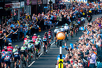 Picture by Alex Whitehead/SWpix.com - 04/05/2018 - Cycling - 2018 Tour de Yorkshire - Stage 2: Barnsley to Ilkley - The peloton travel through Garforth.