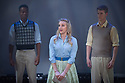 London, UK. 10.10.2014. Mountview Academy of Theatre Arts presents CURTAINS, at the Bernie Grant Arts Centre. Picture shows:  Akintunde Esuruoso, Charlotte Layne (NIKI HARRIS) and Scott Howlett. Photograph © Jane Hobson.