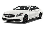 2017 Mercedes Benz CLS-Class AMG-CLS63-4MATIC 4 Door Sedan Angular Front stock photos of front three quarter view