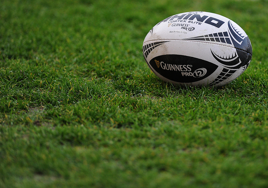 Guinness Pro 12 rugby ball<br /> <br /> Photographer Ashley Crowden/CameraSport<br /> <br /> Guinness PRO12 Round 19 - Scarlets v Benetton Treviso - Saturday 8th April 2017 - Parc y Scarlets - Llanelli, Wales<br /> <br /> World Copyright &copy; 2017 CameraSport. All rights reserved. 43 Linden Ave. Countesthorpe. Leicester. England. LE8 5PG - Tel: +44 (0) 116 277 4147 - admin@camerasport.com - www.camerasport.com