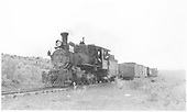 RGS 4-6-0 #20 hauling short freight between Dolores and Mancos.  Richardson's #346 is in this train.<br /> RGS  between Dolores and Mancos, CO  Taken by Richardson, Robert W. - 8/28/1951