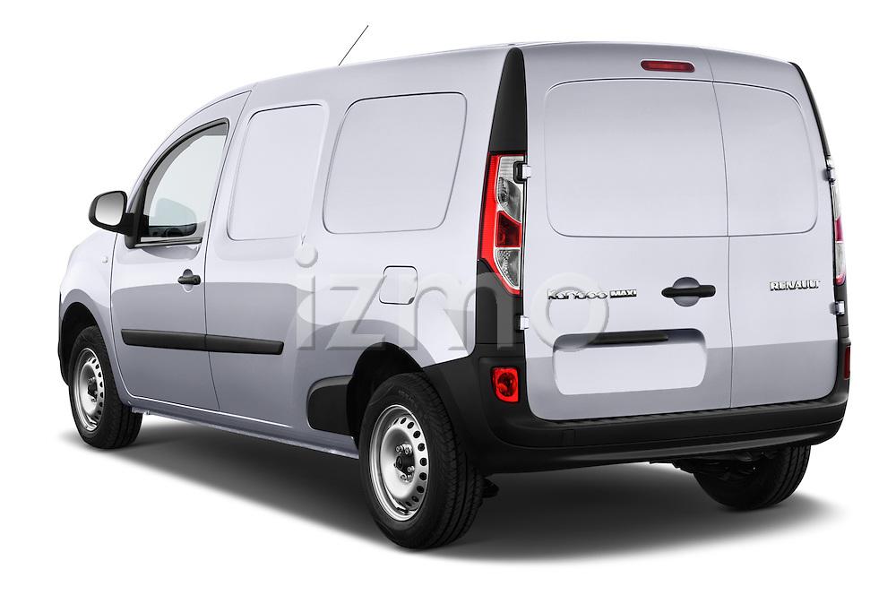 Rear three quarter view of a 2013 - 2014 Renault Kangoo Express Maxi 5 Door Mini Mpv.