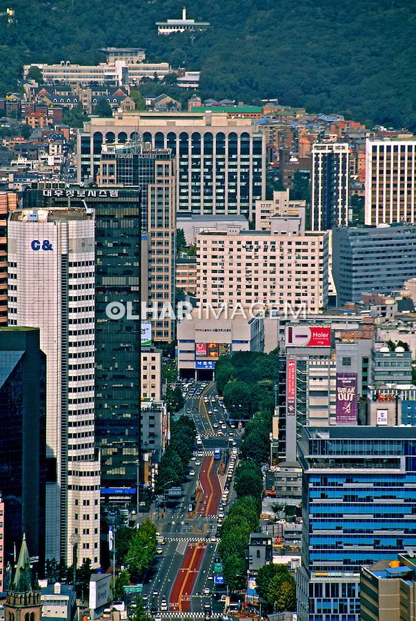 Cidade de Seul capital da Coréia do Sul. 2009. Foto de Thaïs Falcão.