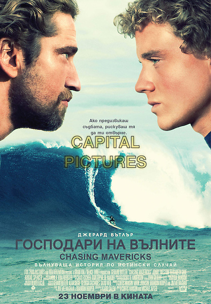 RUSSIAN POSTER ART.in Chasing Mavericks (2012).*Filmstill - Editorial Use Only*.CAP/FB.Supplied by Capital Pictures.