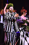"Alex Brightman during the Broadway Opening Night Performance Curtain Call for ""Beetlejuice"" at The Winter Garden on April 25, 2019 in New York City."