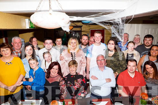 Mike Guerin, Ballyduff celebrates his 60th birthday with family at the Brogue Inn on Saturday