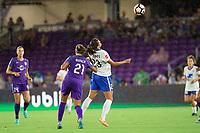 Orlando, FL - Saturday September 02, 2017: Monica Hickmann Alves, Katie Stengel during a regular season National Women's Soccer League (NWSL) match between the Orlando Pride and the Boston Breakers at Orlando City Stadium.