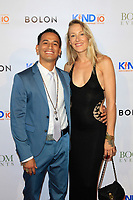 CLVER CITY - AUG 4: Goya Robles, wife Emma at Kind Los Angeles: Coming Together for Children Alone at Bolon at Helms Design Center on August 4, 2018 in Culver City, CA