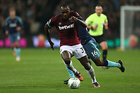 Kyle Walker-Peters of Tottenham Hotspur and Michail Antonio of West Ham United during West Ham United vs Tottenham Hotspur, Caraboa Cup Football at The London Stadium on 31st October 2018