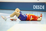 Spain's Victor Tomas injured during 2018 Men's European Championship Qualification 2 match. November 2,2016. (ALTERPHOTOS/Acero)