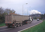 A1X0RD Lorry  delivery sugar beet to factory Bury St Edmunds Suffolk England