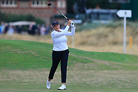 Cristie Kerr (USA) on the 2nd fairway during Round 2 of the Ricoh Women's British Open at Royal Lytham &amp; St. Annes on Friday 3rd August 2018.<br /> Picture:  Thos Caffrey / Golffile<br /> <br /> All photo usage must carry mandatory copyright credit (&copy; Golffile | Thos Caffrey)