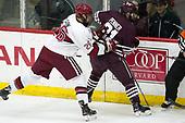 Jacob Olson (Harvard - 26), Tyler Penner (Colgate - 21) - The visiting Colgate University Raiders shut out the Harvard University Crimson for a 2-0 win on Saturday, January 27, 2018, at Bright-Landry Hockey Center in Boston, Massachusetts.