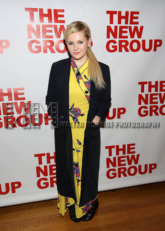 "Abigail Breslin attends the Opening Night of The New Group World Premiere of ""All The Fine Boys"" at the The Green Fig Urban Eatery on March 1, 2017 in New York City."
