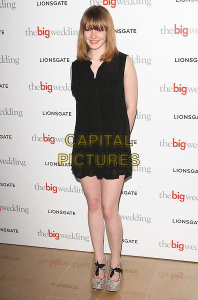 Wallis Day.Special screening of 'The Big Wedding' at Mayfair Hotel, London, UK, May 23rd 2013..full length black shirt dress sleeveless .CAP/ROS.©Steve Ross/Capital Pictures