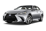 Stock pictures of low aggressive front three quarter view of 2016 Lexus GS F-Sport-RWD 4 Door Sedan Low Aggressive
