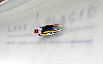 7 February 2009: Andi Langenhan slides for Germany in the Men's Competition at the 41st FIL Luge World Championships, in Lake Placid, New York, USA. .  .Mandatory Photo Credit: Ed Wolfstein Photo