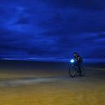 Venice bike path at dusk