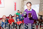 Jack Kingston on Right who is the first person in Ireland to be presented with the Trident Award a social development programe for teens living with autism he is pictured with his family Noelle Kingston, Dan Kingston, Breda Murphy, Vincent Murphy, Muire Kingston, Sinclair Kingston and Liam Kingston.