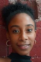portrait of a black girl in Havanna