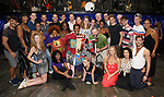 Michael Mayer, Peppermint, Justin Prescott and Spencer Liff with cast during the Broadway Opening Night Performance Actors' Equity Legacy Robe honoring Justin Prescott at the Hudson Theatre on July 26, 2018 in New York City.