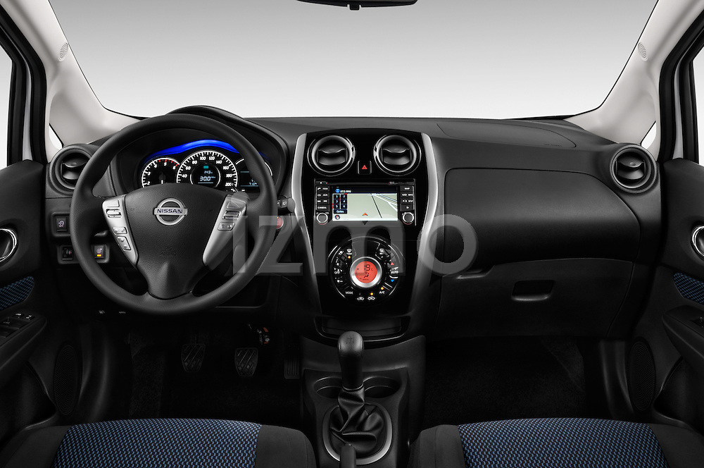 Straight dashboard view of a 2013 Nissan NOTE 5 Door Hatchback 2WD