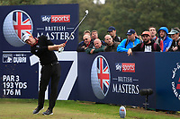 Marcel Siem (GER) on the 17th tee during Round 1of the Sky Sports British Masters at Walton Heath Golf Club in Tadworth, Surrey, England on Thursday 11th Oct 2018.<br /> Picture:  Thos Caffrey | Golffile<br /> <br /> All photo usage must carry mandatory copyright credit (© Golffile | Thos Caffrey)