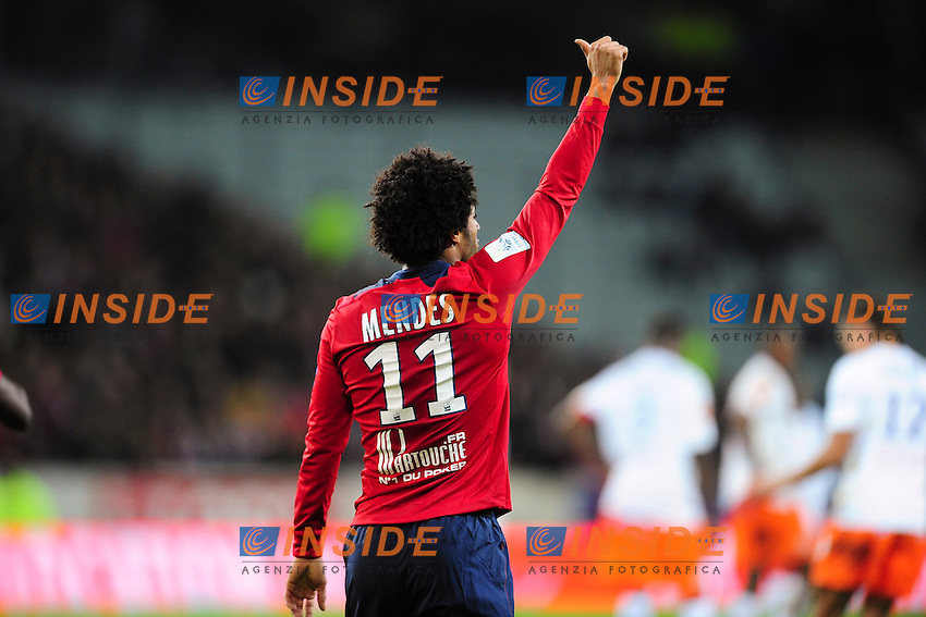 joie de Ryan Mendes (Lille) apres son but - .Football Calcio 2012/2013 Ligue 1.Francia.Foto Panoramic / Insidefoto .ITALY ONLY